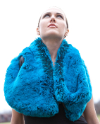 Luxurious Blue Scarf
